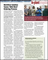 InPlant Graphics Article on PressWise Customer