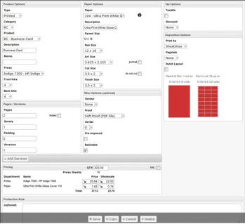 PressWise Estimating Tool